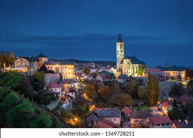 Kutna Hora, Czechia. Cityscape at dusk with Church of Saint James - Shutterstock ID 1569728251