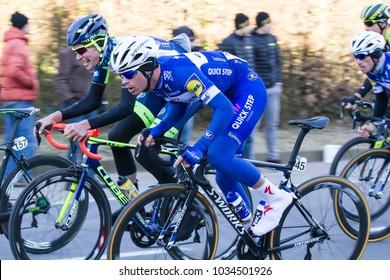 KUURNE, BELGIUM - FEBRUARY 25: Ilio Keisse (BEL) racing in Kuurne-Brussel-Kuurne on February 25th, 2018 in Belgium