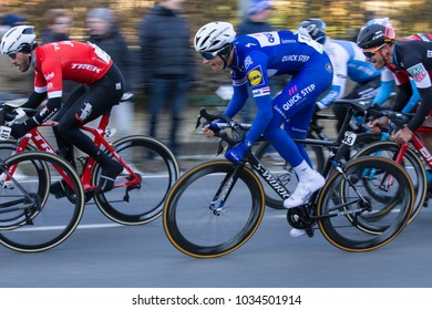 KUURNE, BELGIUM - FEBRUARY 25:  Nikki Terpstra (NED) racing in Kuurne-Brussel-Kuurne on February 25th, 2018 in Belgium