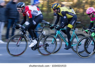 KUURNE, BELGIUM - FEBRUARY 25:  Wynants Maarten racing in Kuurne-Brussel-Kuurne on February 25th, 2018 in Belgium