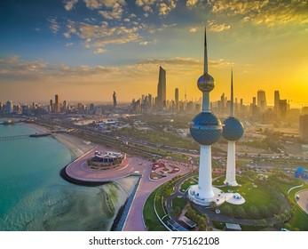Kuwait City - 03/26/2017: Beautiful Sunset in Kuwait City