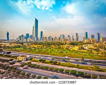 Kuwait City 11 11 2018: Kuwait City on a Bright Afternoon