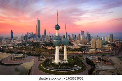 Kuwait City Kuwait January 22 2021 Amazing Kuwait Towers