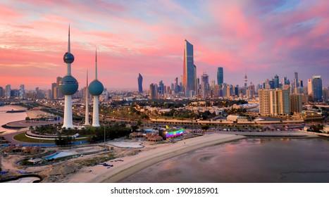 Kuwait City, Kuwait, January 22 2021, Amzing Kuwait Tower