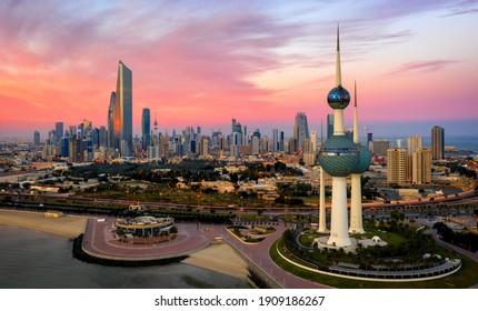 Kuwait City, Kuwait, January 22 2021, Amazing Kuwait Tower