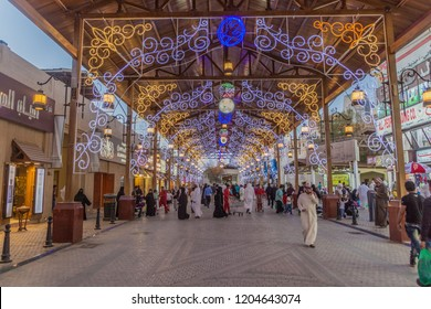 KUWAIT CITY, KUWAIT - MARCH 17, 2017: People shop in the Souq in central Kuwait City.