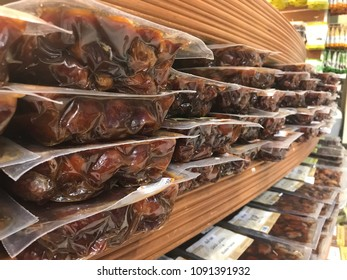 Kuwait City, Kuwait - May 15, 2018: Packaged dates ready to sell.