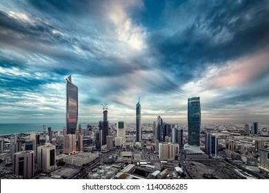 Kuwait City at sunset