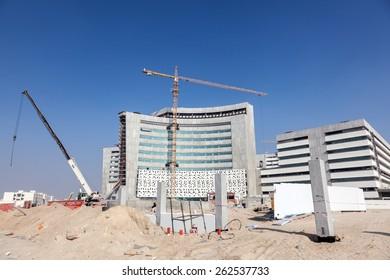 KUWAIT - DEC 11: The largest medical centre in the State of Kuwait - Jaber Al Ahmad Al Jaber Al Sabah Hospital. December 11, 2014 in Kuwait