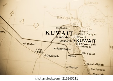 Map of Kuwait Stock Photos, Images & Photography | Shutterstock