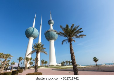 Kuwait Towers and Palms