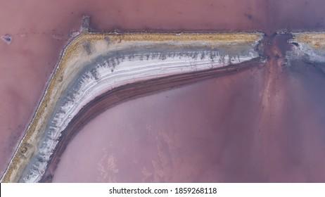 Vue d'un drone de mer mort sur l'estuaire de Kuyalnik