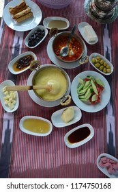 Kuymak and Traditional turkish breakfast in Trabzon - Turkey