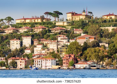 Kuzguncuk district in asian part of Istanbul, Seaside view from Bosphorus