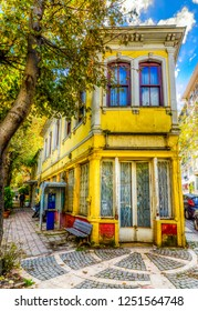Kuzguncuk street view in Istanbul. Kuzguncuk is historical district of Istanbul.