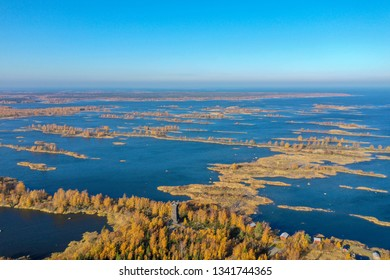 Kvarken Archipelago and Satkaret observation tower   photographed with a drone