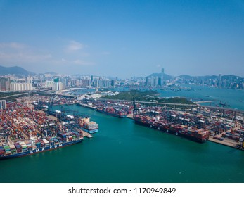 Kwai Tsing, Hong Kong 02 May 2018:-Hong Kong terminal port
