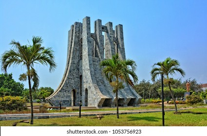 Kwame Nkrumah Memorial Park and Mausoleum. It is dedicated to the first president of Ghana for his outstanding campaign to liberate Ghana from colonial rule. Ghana, Accra - January 11, 2017