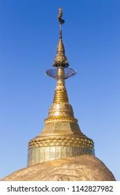 Kyaikhtiyo or Kyaiktiyo pagoda, Golden rock, Myanmar
