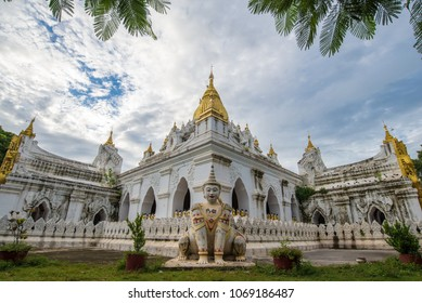 Kyauktawgyi Pagoda in Amarapura near U Bein Bridge,Mandalay, Myanmar.
