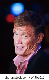 "KYIV - AUG 7: Actor Dolph Lundgren in the film presentation of  ""The Expendables"", August  7, 2010 in Kyiv, Ukraine"