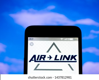 KYIV /KIEV, UKRAINE - June 30, 2019: In this photo illustration the Air Link Pty Ltd logo is seen displayed on a smartphone