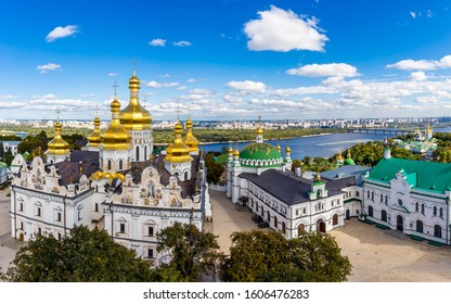Kyiv Pechersk Lavra and surrounding buildings