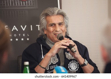 Kyiv. Ukraine. 03 december 2015.  The press conference of the famous Italian singer Toto Cutugno.