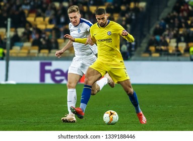 Kyiv, UKRAINE - 14th March, 2019: Ruben Loftus-Cheek of Chelsea in action during the UEFA Europa League match against FC Dynamo Kyiv at NSC Olimpiyskiy