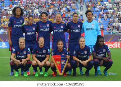 KYIV, UKRAINE – 24 MAY, 2018: Team photos of players of Lyon during the final of the UEFA Women's Champions League VfL Wolfsburg – Lyon at the Valeriy Lobanovskyi Dynamo Stadium