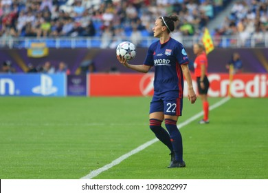 KYIV, UKRAINE – 24 MAY, 2018: Soccer player Lyon Lucy Bronze during the final of the UEFA Women's Champions League VfL Wolfsburg – Lyon at the Valeriy Lobanovskyi Dynamo Stadium