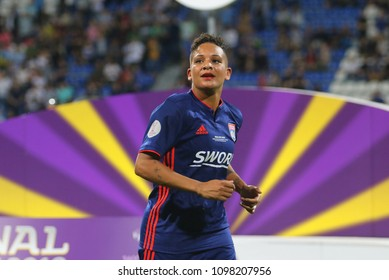 KYIV, UKRAINE – 24 MAY, 2018: Shanice van de Sanden during the final of the UEFA Women's Champions League VfL Wolfsburg – Lyon at the Valeriy Lobanovskyi Dynamo Stadium