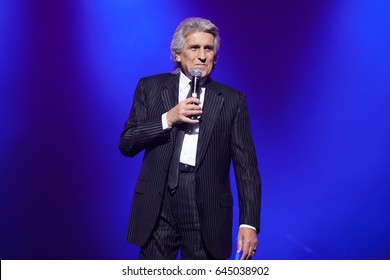 Kyiv. Ukraine. 4 December 2015.  The famous singer Toto Cutugno performs at solo concert.