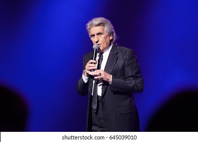 Kyiv. Ukraine. 4 December 2015.  The famous singer Toto Cutugno performs at  concert.