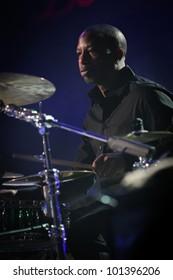 KYIV, UKRAINE - APR 03: American jazz drummer Billy Kilson accompanied Chris Botti during his solo concert on April 03, 2012 in Kyiv, Ukraine