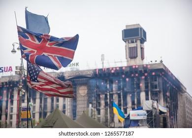 Image result for ukraine usa flags revolution