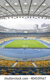 KYIV, UKRAINE - APRIL 10, 2016: NSC Olympic stadium (NSC Olimpiyskyi) during Ukraine Premier League game FC Dynamo Kyiv vs FC Volyn in Kyiv, Ukraine
