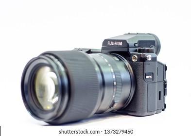 Kyiv, Ukraine - April 12, 2019: Fujifilm GFX 50S