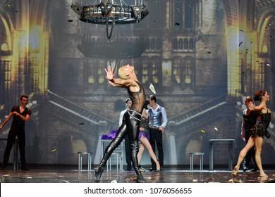 KYIV, UKRAINE - APRIL 16, 2018: Concert of Balet The Great Gatsby in Kyiv