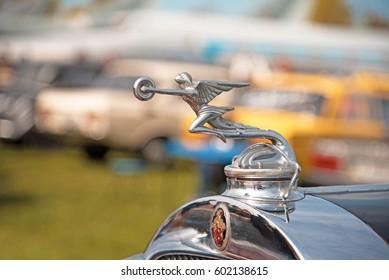 KYIV, UKRAINE  - APRIL 23, 2016: the logo of retro-car Packard.