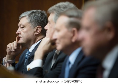 KYIV, UKRAINE - Aug. 29, 2019: Presidents of Ukraine during the session of the Verkhovna Rada of Ukraine of the ninth convocation