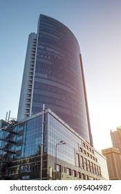 Kyiv, Ukraine - Aug 5th, 2017: Skyscraper.