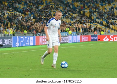 KYIV, UKRAINE - AUGUST 28, 2018: Viktor Tsygankov of FC Dynamo Kyiv in action during the UEFA Champions League play-off game against AFC Ajax at NSC Olimpiyskyi stadium in Kyiv, Ukraine