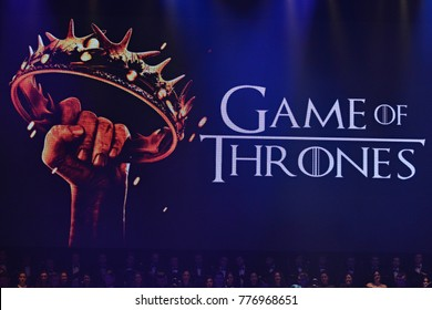 KYIV, UKRAINE - DECEMBER 13, 2017: Symphony Orchestra performs soundtracks from The Game of Thrones