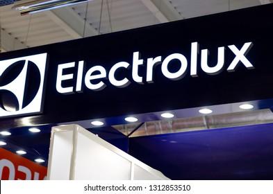 Kyiv, Ukraine - February 09, 2019: Electrolux Logo in the shop.