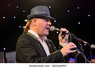 KYIV, UKRAINE -  FEBRUARY 6, 2018: Winand Gabor during concert Jazz kolo