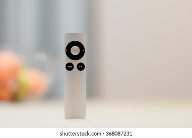 Kyiv, Ukraine - January 26th, 2016: The second generation Apple Remote.