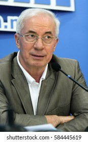 Kyiv, Ukraine - July 6, 2009: MP from the Party of Regions Mykola Azarov said during a press conference in Kyiv