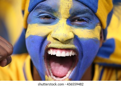 KYIV, UKRAINE - June 15, 2012 EURO 2012 soccer fans against Sweden