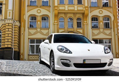 Kyiv, Ukraine, June 25, 2015; Porsche Panamera 4S 4.8 4WD. Editorial photo.